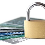 padlock with creditcards