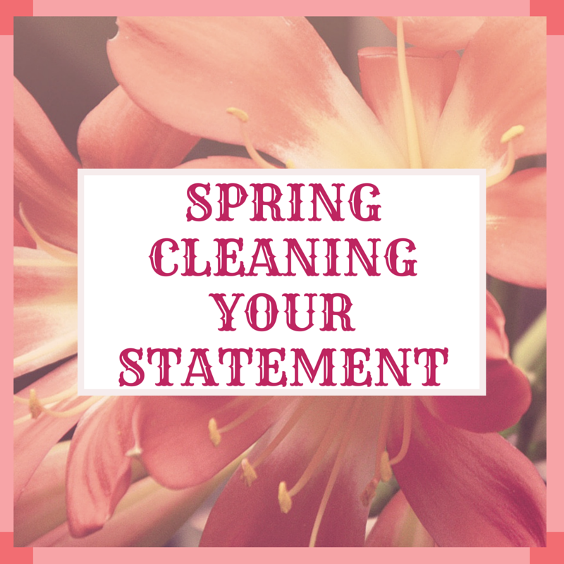 SPRINGCLEANINGYOURSTATEMENT
